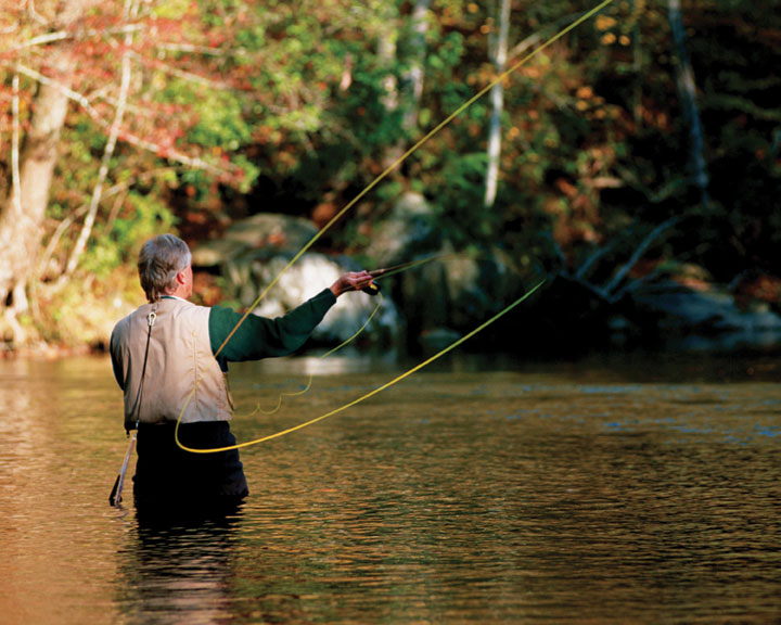 Fly fishing in fishing the dillard house for Best trout fishing in new hampshire